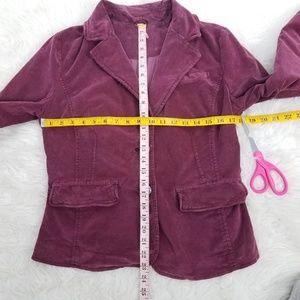 Free People Jackets & Coats - FP Byron Corduroy Jacket Blazer S M Wine B10